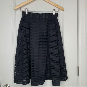 NWT H&M Black and Gold Eyelet Skirt